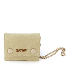 Mini Hemp Wallet With Security Chain