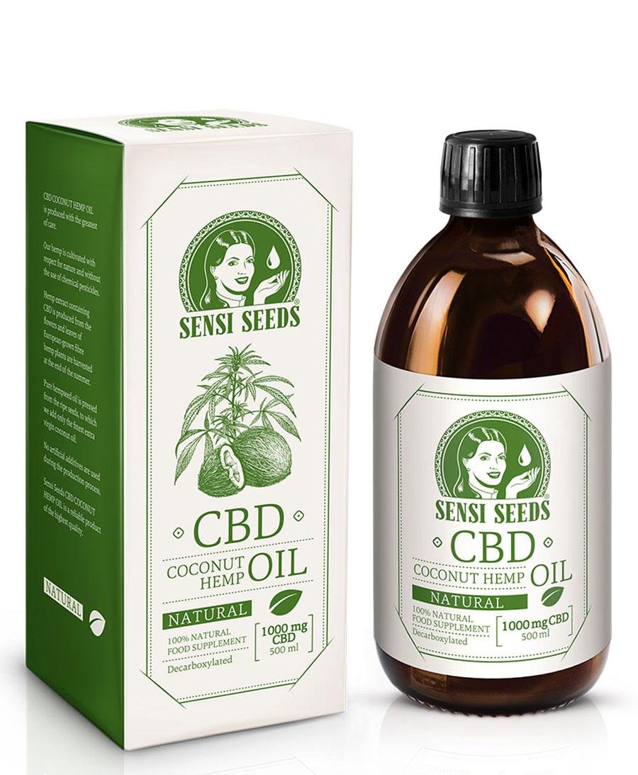 CBD Kokos- und Hanföl Natur – 500 ml