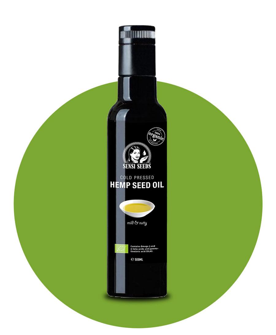 Kalt gepresstes Hanföl – Hanf-Lebensmittel von Sensi Seeds