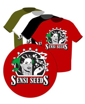 T-Shirt Mit Sensi Seeds Emblem