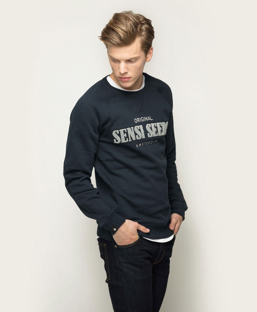 Chill out in the super soft Sensi Seeds Terry Crew Neck.