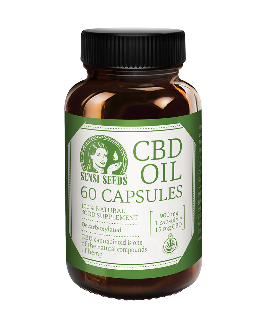 Cápsulas de Aceite de CBD Sensi Seeds ¡orgánico de calidad!