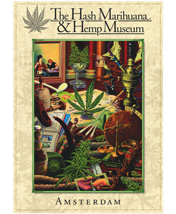 Compra online la pegatina del Hash Marihuana & Hemp Museum