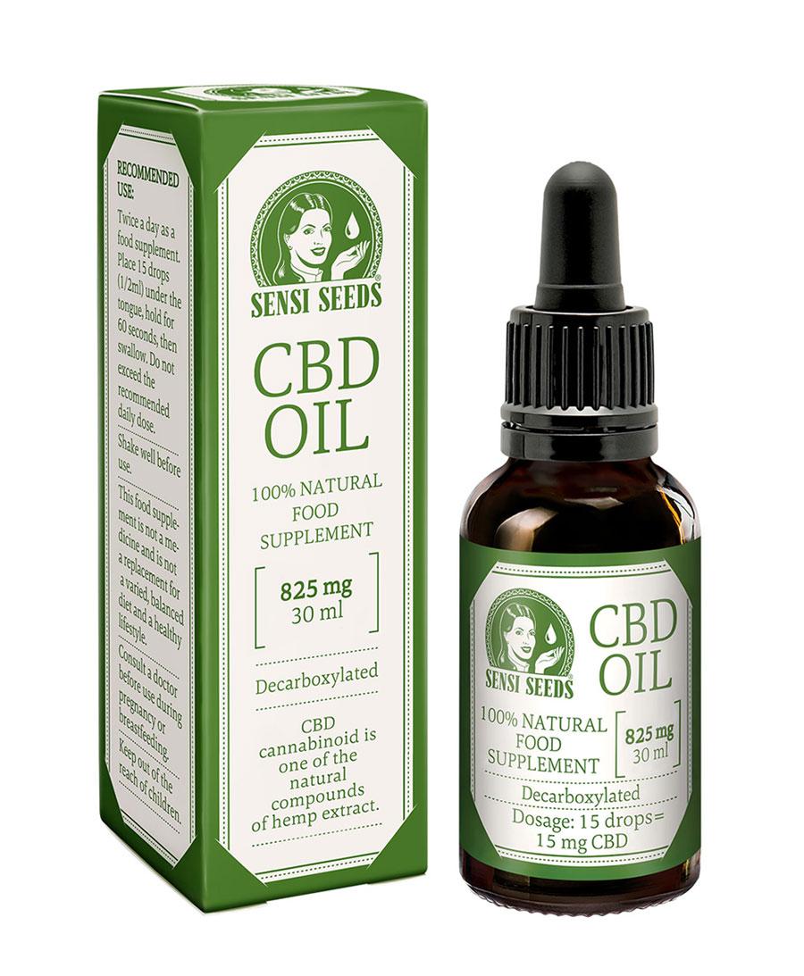 Achetez de l'huile de CBD (825mg) 30 ml de Sensi Seeds