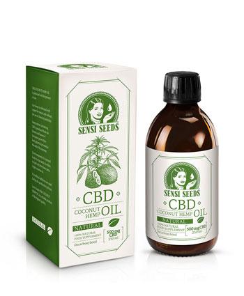 Huile de coco et chanvre au CBD, saveur naturelle – 250 ml