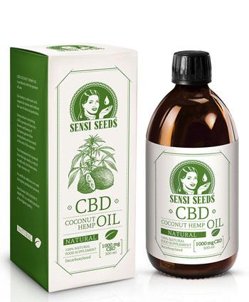Huile de coco et chanvre au CBD, saveur naturelle – 500 ml