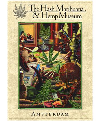 Autocollant Hash Marihuana Hemp Museum