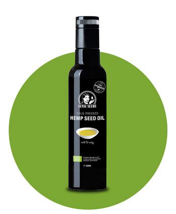 Olio di Canapa Estratto a Freddo – Sensi Seeds Hemp Foods
