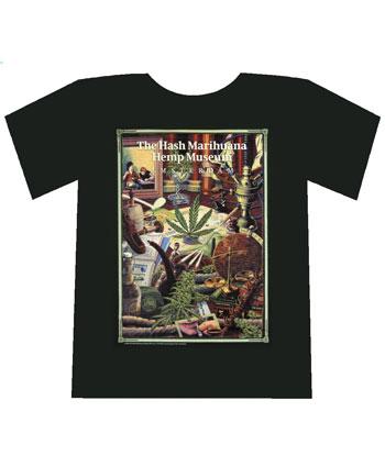 Maglietta Del Hash Marihuana Hemp Museum