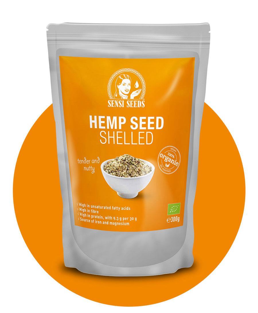 Koop gepeld hennepzaad 300 g – Sensi Seeds Hemp Foods