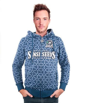 Koop originele Sensi Seeds patrol blauw hoodie online