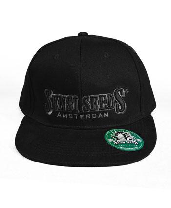 Kup czarna czapke z plaskim daszkiem Sensi Seeds