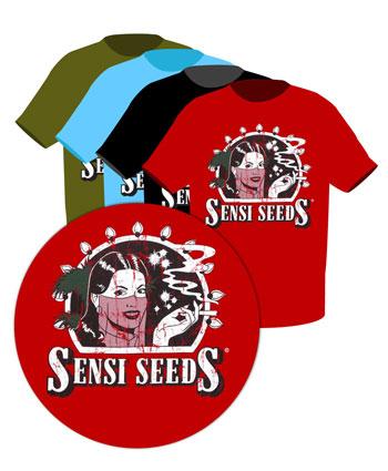 Kup online koszulke z logo Sensi Seeds w stylu retro