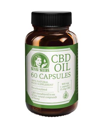 Olej CBD Sensi Seeds w kapsułkach (15 mg) — organiczny!
