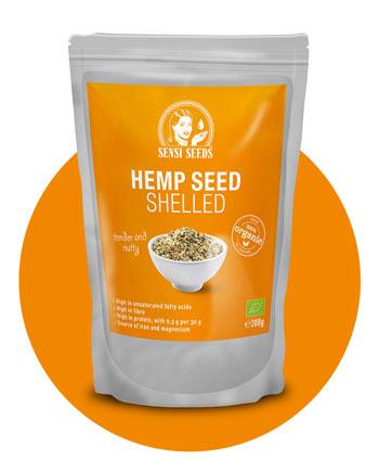 Kup łuskane nasiona konopi 300 g — Sensi Seeds Hemp Foods