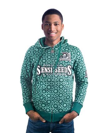 Comprar sweatshirt com capuz Verde original Sensi Seeds online